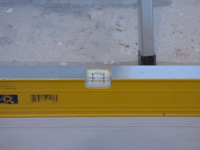 Ensure the floor rail is 100% level
